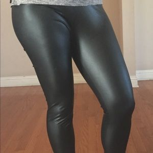 Leather leggings All black skinny NWT